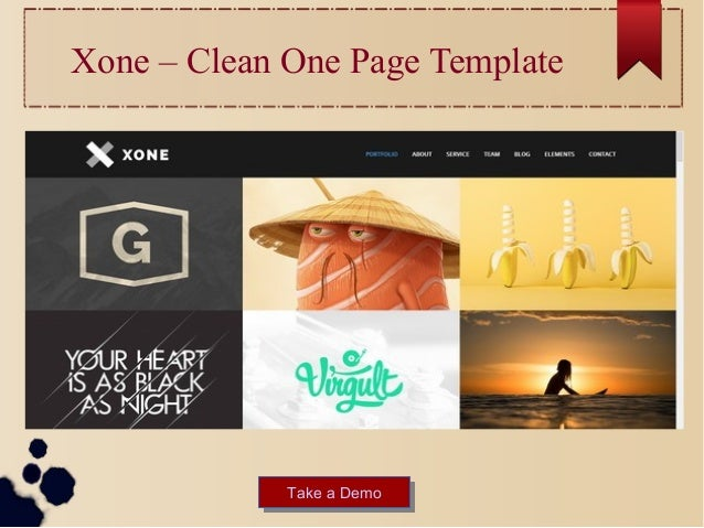 Best inspirational html business portfolio website templates xone clean one page template take a demotake a demo wajeb Choice Image