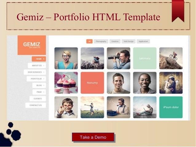 html portfolio template