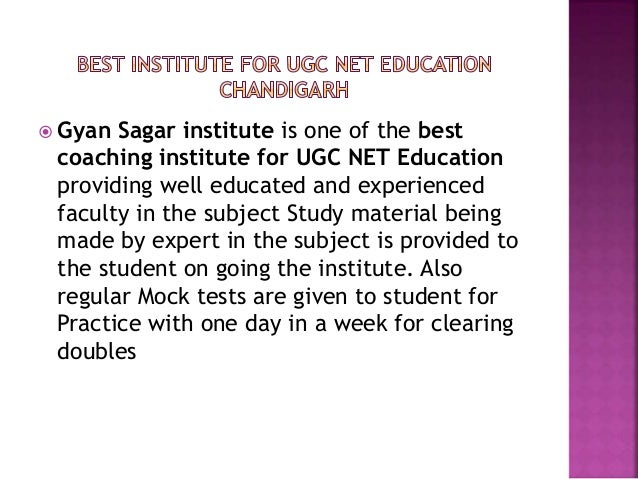  Gyan Sagar institute is one of the best coaching institute for UGC NET Education providing well educated and experienced...