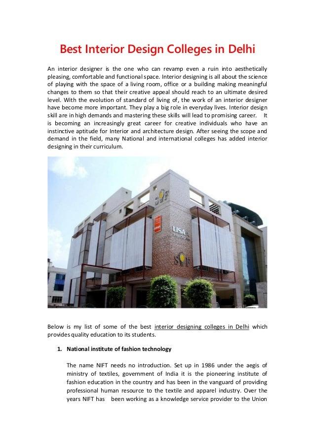 Best Interior Design Colleges In Delhi: Best Interior Design Colleges in Delhirh:slideshare.net,Design