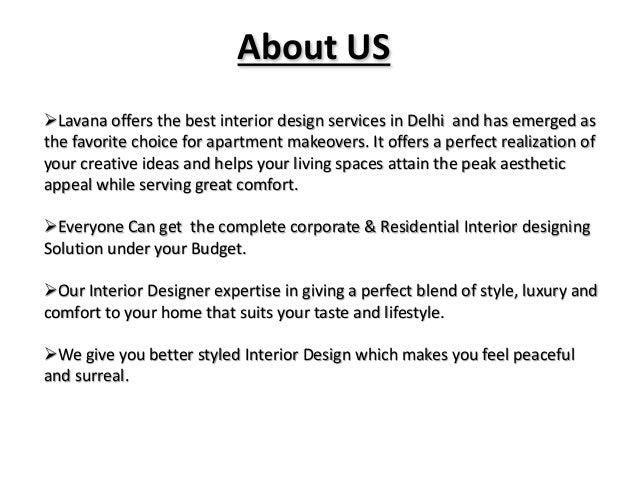 Lavana Offers the Best Interior Design Services in Delhi Slide 2