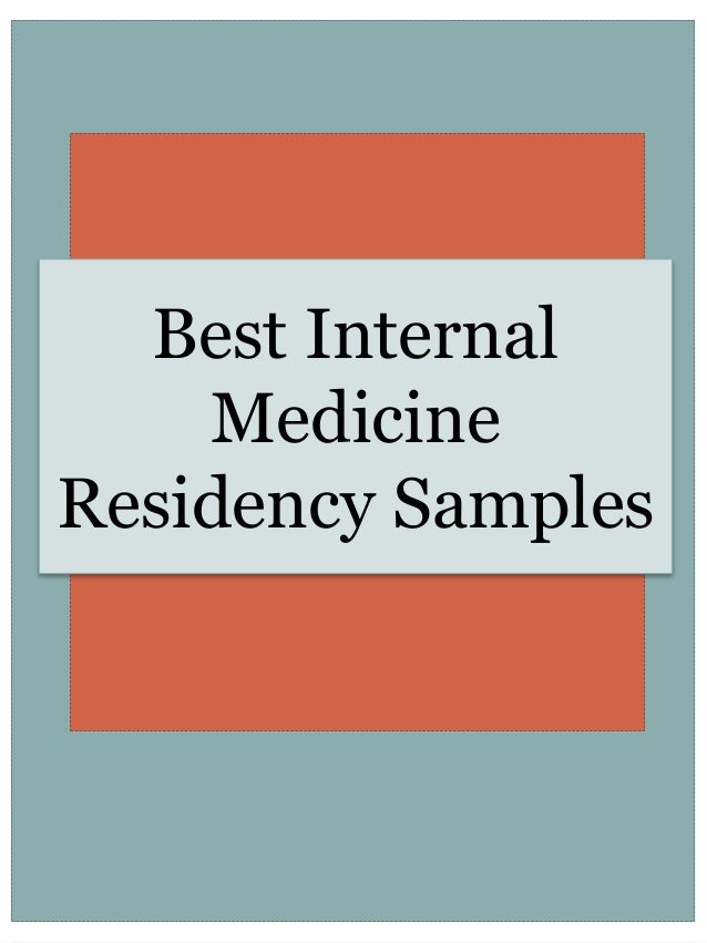 Best personal statement for internal medicine residency
