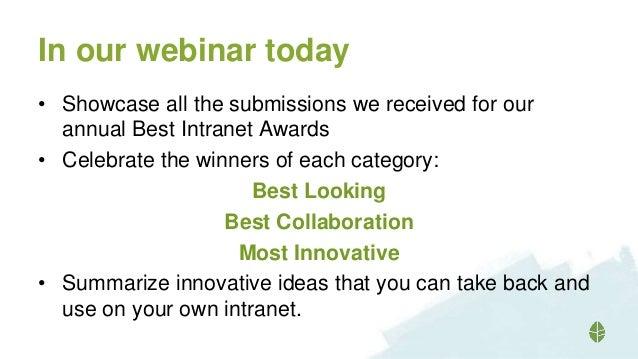 Best intranets 2015 Webinar Slide 2