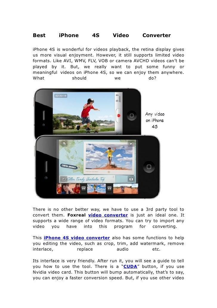 Best i phone 4s video converter