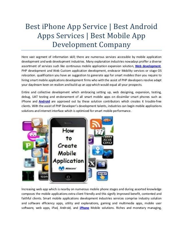 Best iPhone App Service | Best Android Apps Services | Best Mobile App Development Company Here vast segment of informatio...