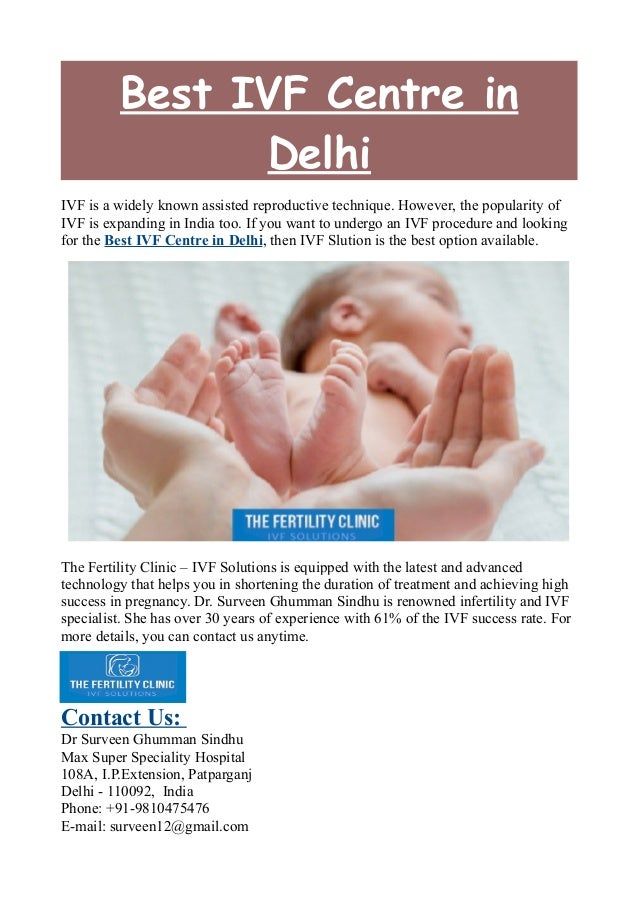 Best IVF Centre in Delhi IVF is a widely known assisted reproductive technique. However, the popularity of IVF is expandin...
