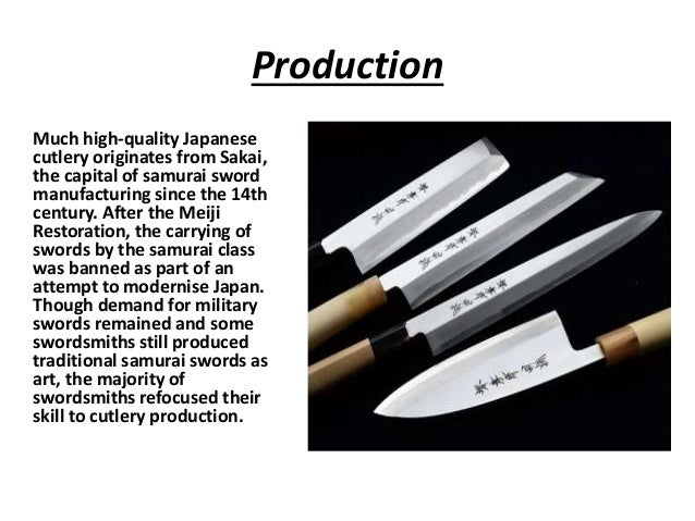 3 Production Much High Quality Japanese Cutlery