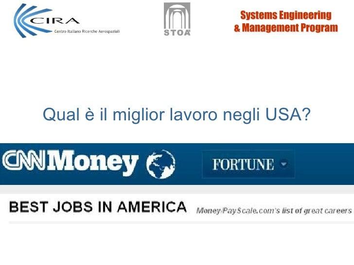 Qual è il miglior lavoro negli USA?