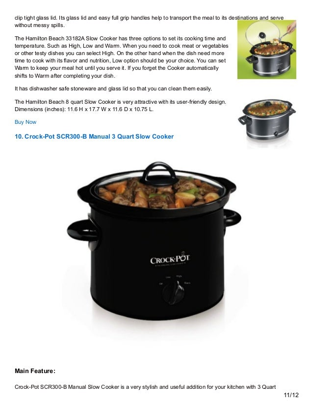 10 Best Slow Cookers Review