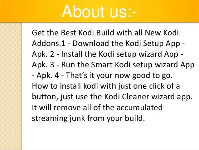 Best kodi build kodi setup wizard - new kodi addons - kodi