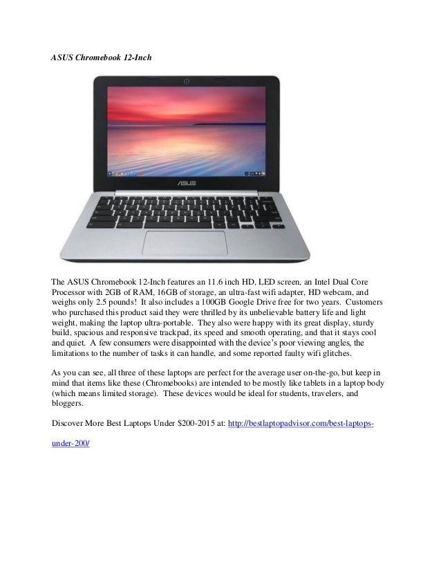 Best laptops under $200 - 2015