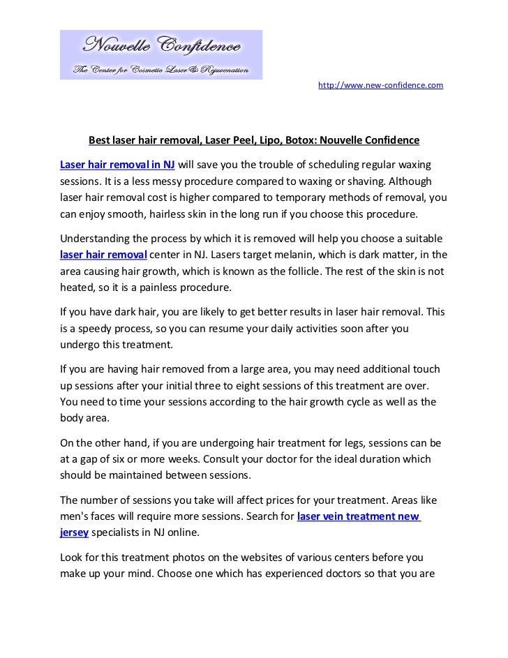 Laser hair removal resume