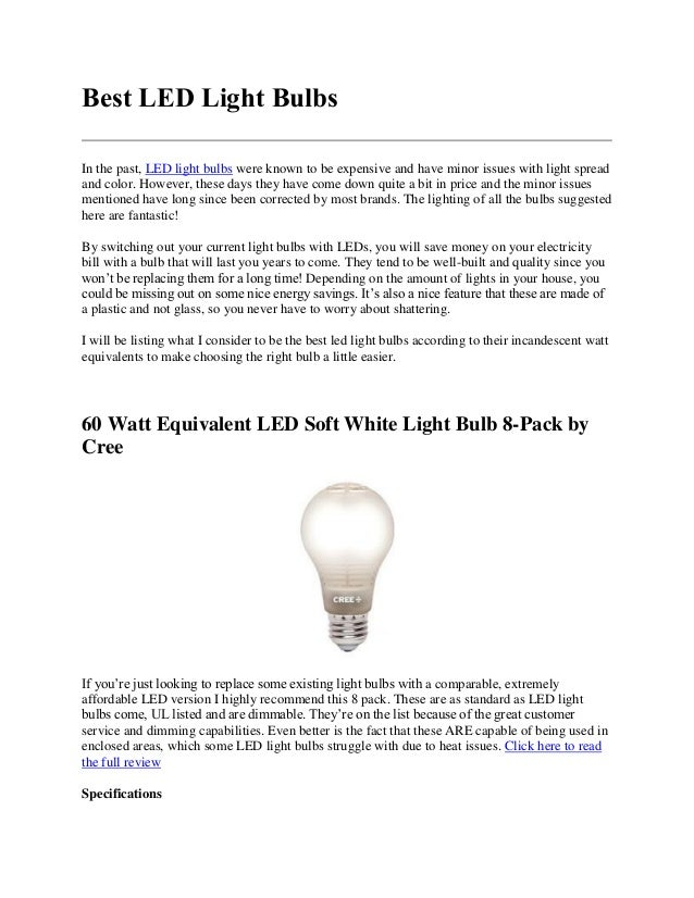 How To Find The Best Led Light Bulbs For Your Home