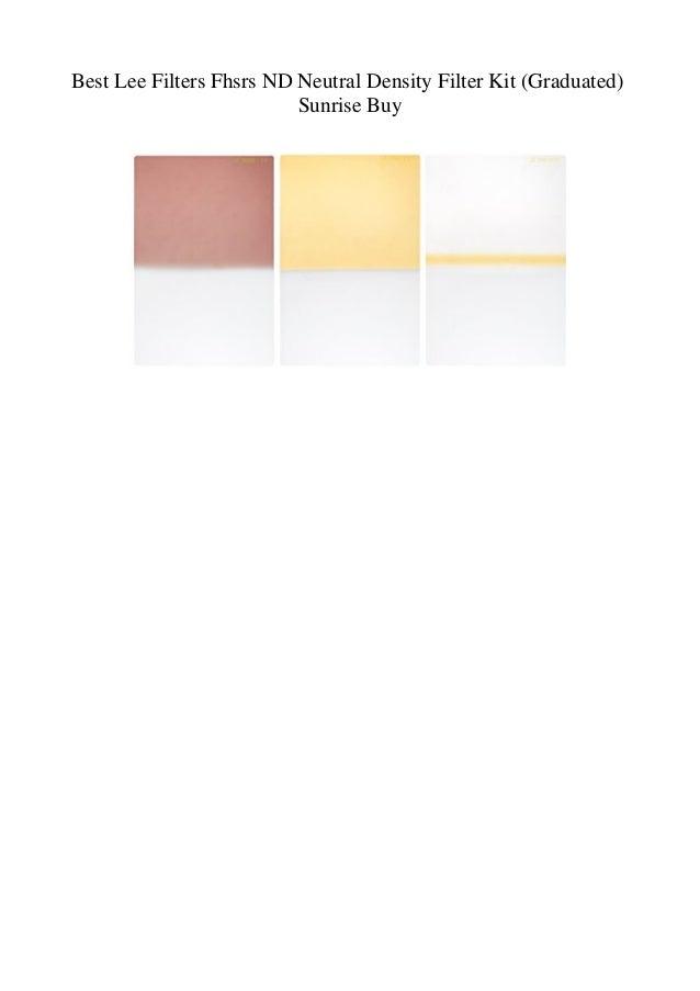 Best Lee Filters Fhsrs ND Neutral Density Filter Kit (Graduated) Sunr…