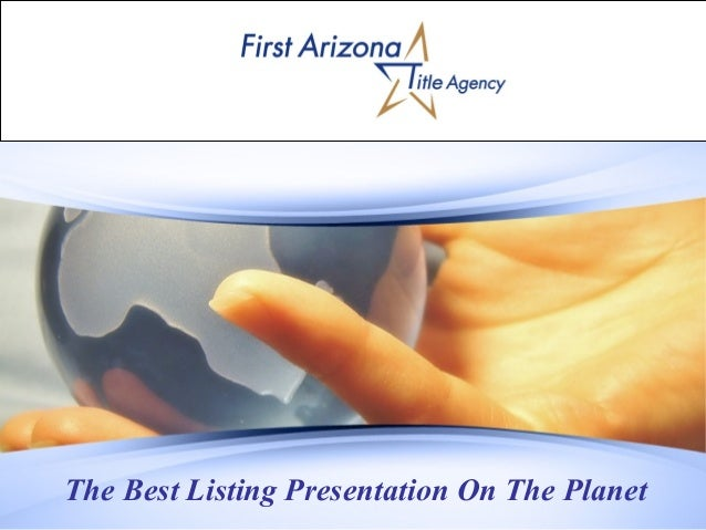 The Best Listing Presentation On The Planet