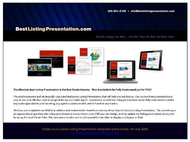 best real estate listing presentation for ipad. Black Bedroom Furniture Sets. Home Design Ideas