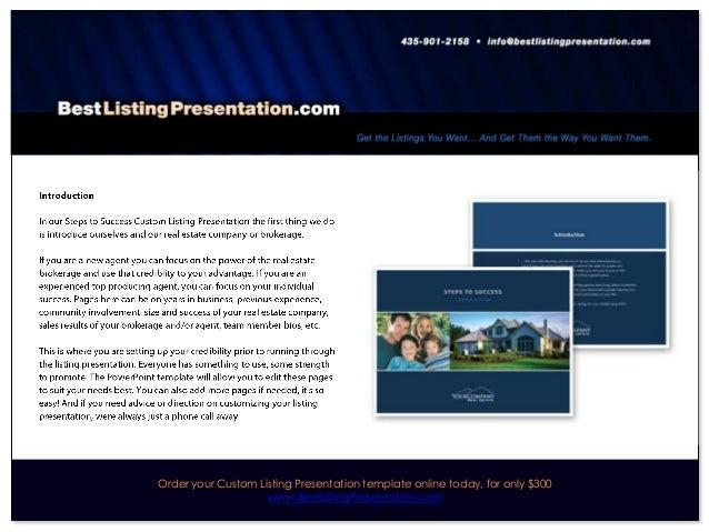 Best Real Estate Listing Presentation for iPad