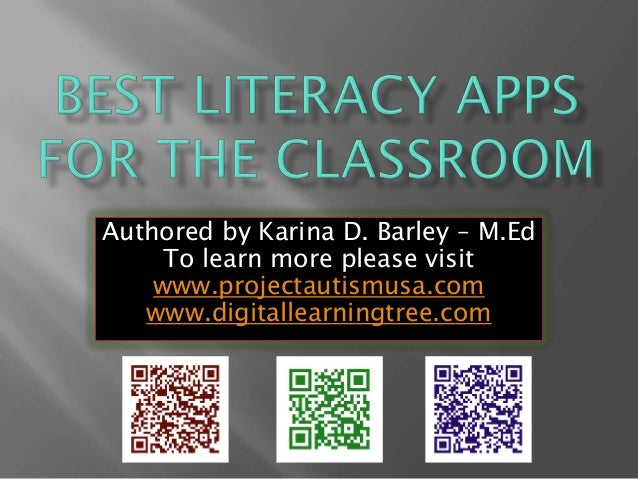 Authored by Karina D. Barley – M.Ed To learn more please visit www.projectautismusa.com www.digitallearningtree.com