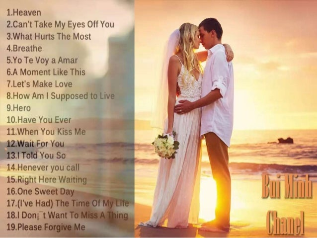 Most popular english love songs
