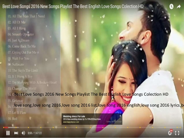Best love songs 2016 new songs playlist the best english ...