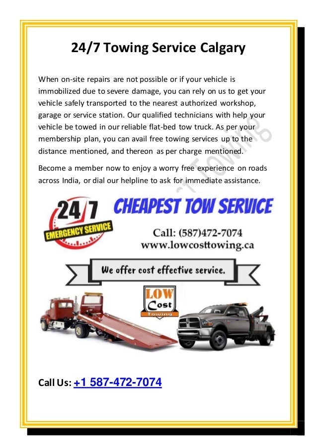 Towing Service Cost >> Best Low Cost Towing Services Calgary
