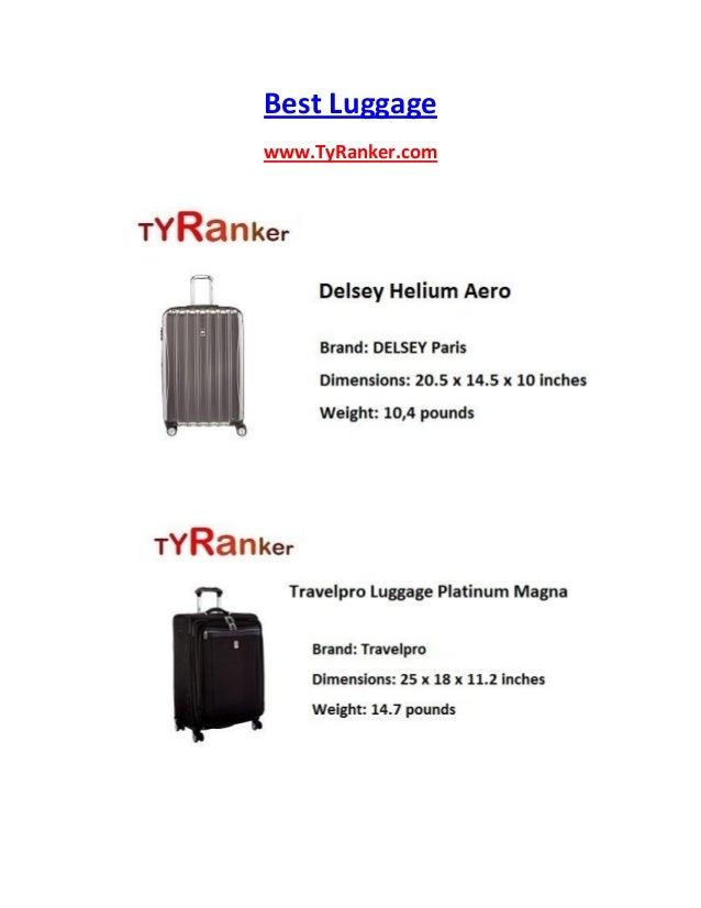 Best Luggage www.TyRanker.com