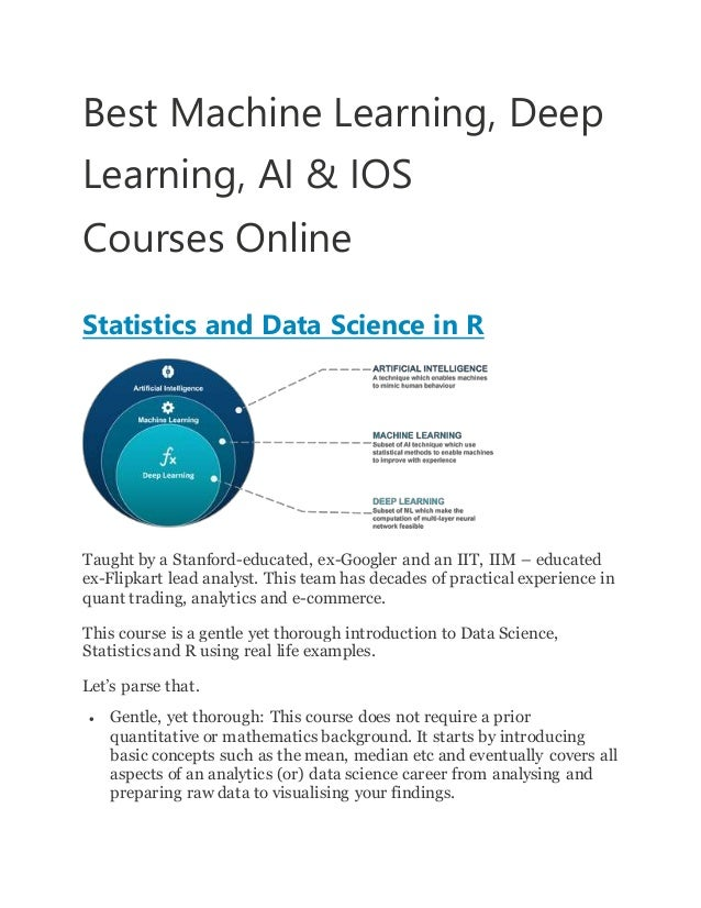 Best machine learning, deep learning, ai &