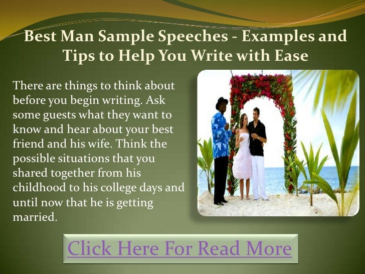 best man speech examples childhood friend