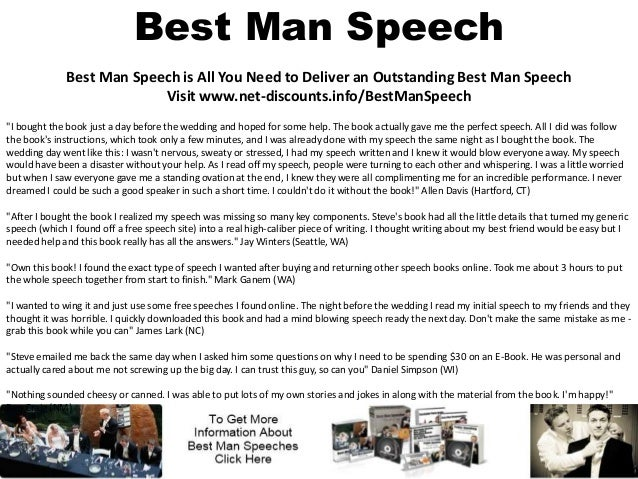 Standard Packages for Best Man Speech Writing Service