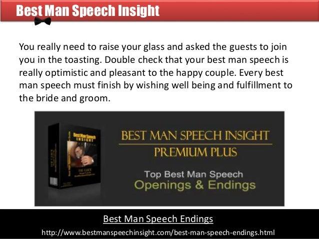 Creative Best Man Speech Endings