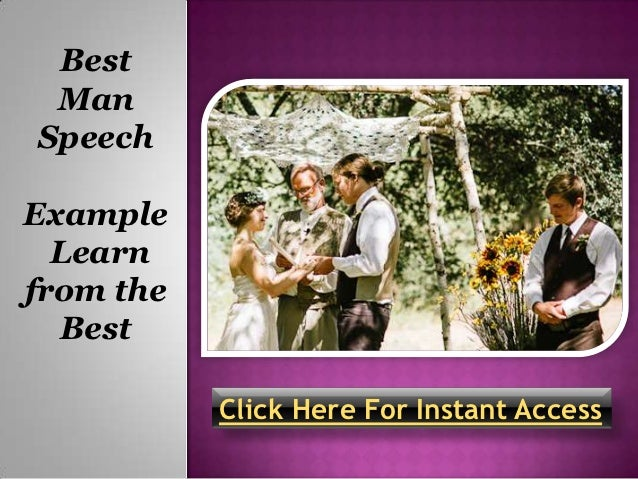 Best Man Speech Examples Learn From The Best