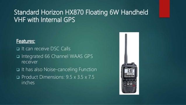 STANDARD HX870 6W FLOATING VHF W// INTERGRATED GPS