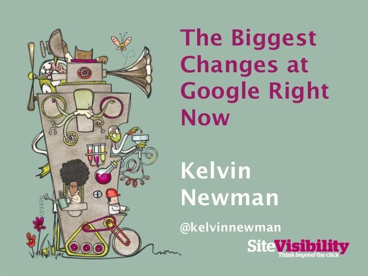 The BiggestChanges atGoogle RightNowKelvinNewman@kelvinnewman