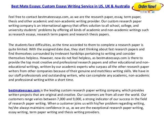 Custom essay writing australia