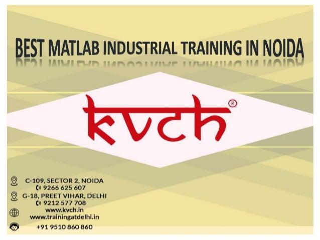Best MATLAB Industrial Training in Noida