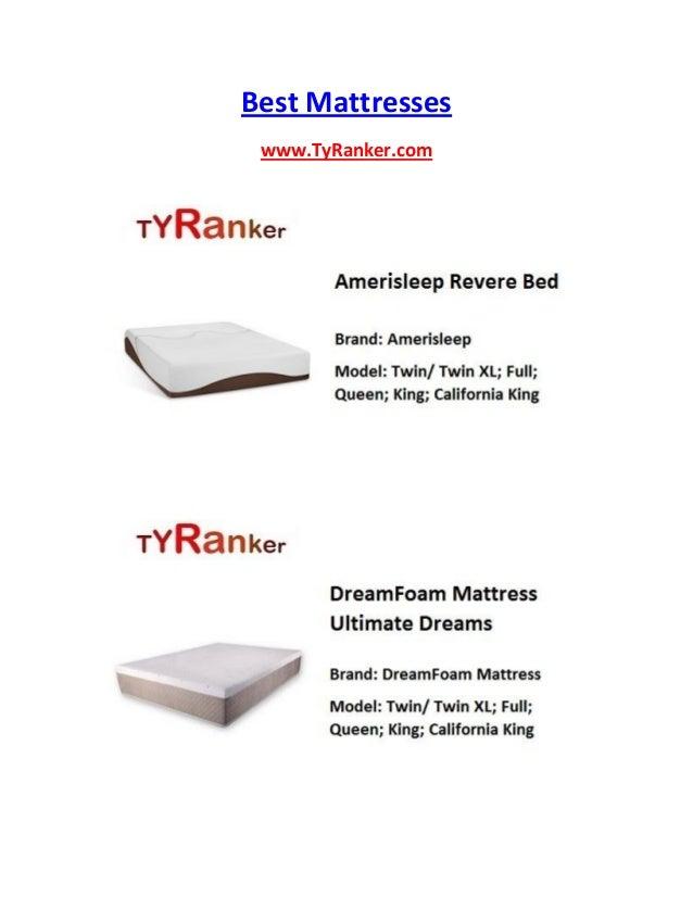 Best Mattresses www.TyRanker.com