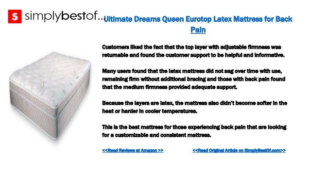 The 8 Best Mattresses For Back Pain