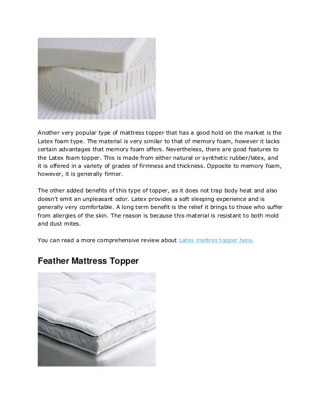 latex foam 14 another very popular type of mattress topper