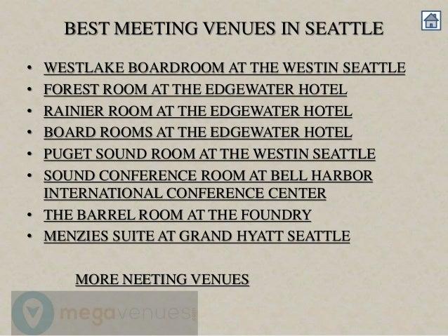 Best meeting venues in seattle