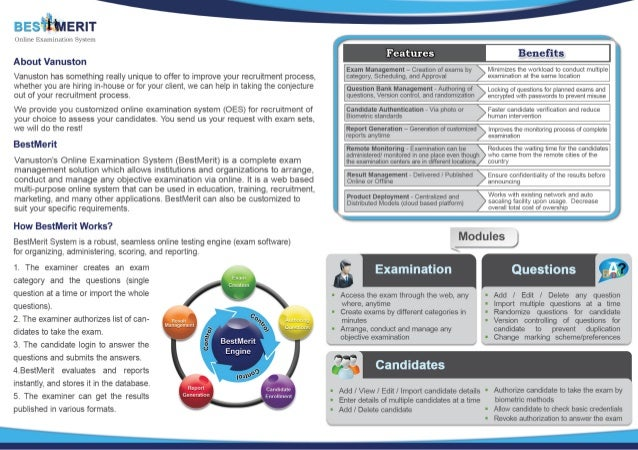 objectives of online examination system Eklavvya is an award winning online examination and knowledge management solution we are serving clients across education institutes, universities, training institutes , corporates we have successful case studies of online assessment implementation.