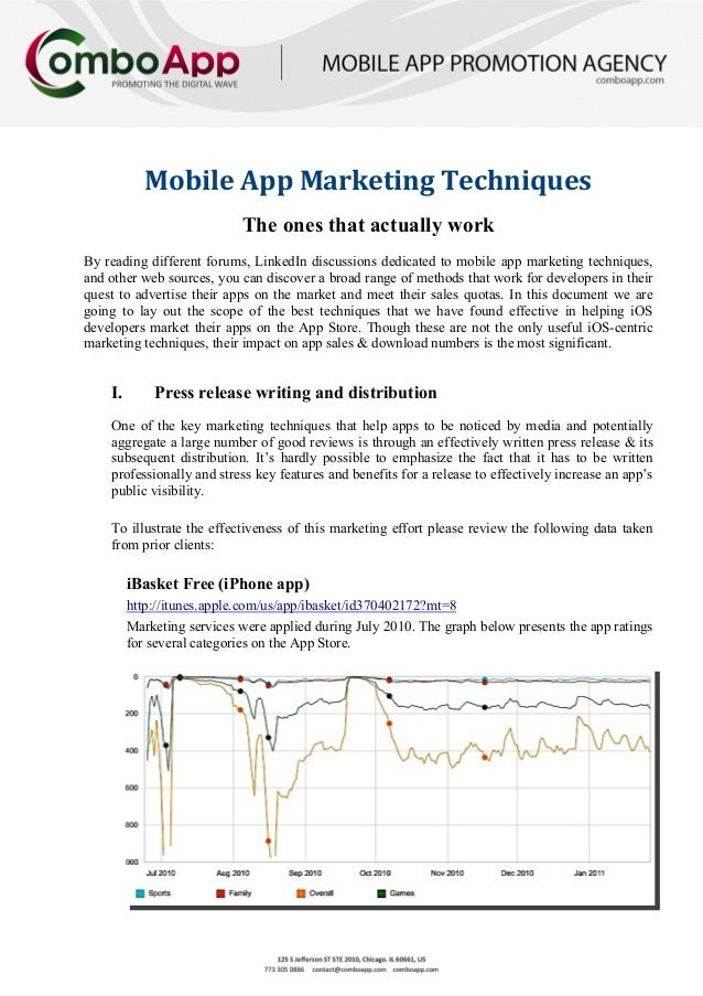 Mobile App Marketing Techniques                            The ones that actually workBy reading different forums, LinkedI...