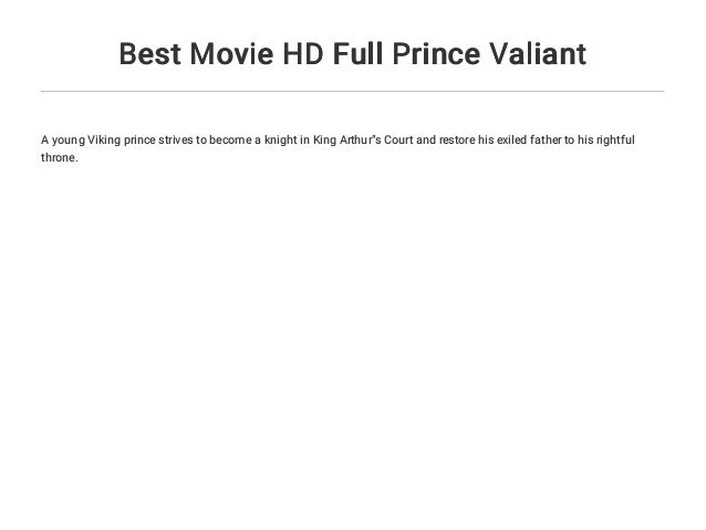 Best Movie HD Full Prince Valiant