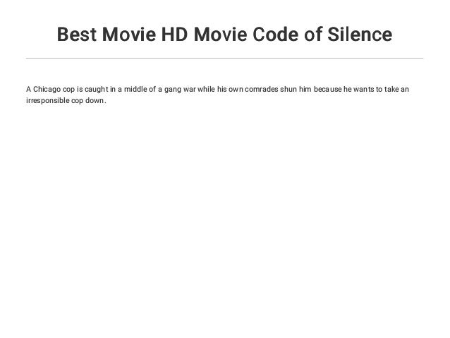 Best Movie HD Movie Code of Silence