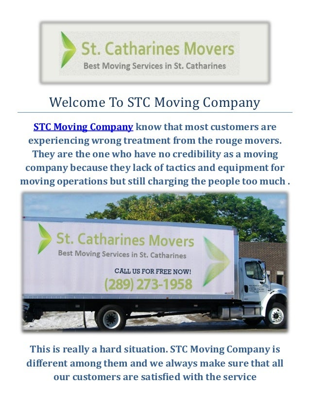 Welcome To STC Moving Company STC Moving Company know that most customers are experiencing wrong treatment from the rouge ...