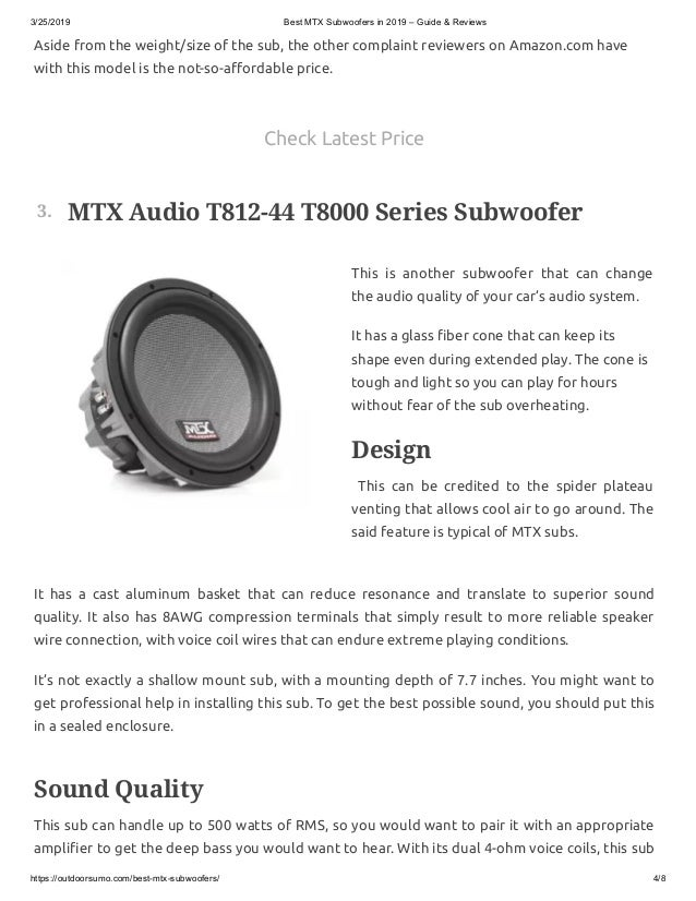 mtx subwoofer review - mtx bass package - are mtx subwoofers