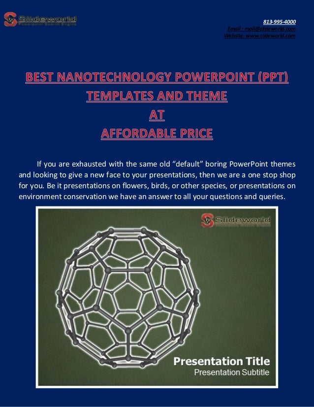 Best nanotechnology powerpoint ppt templates and theme at affordabl toneelgroepblik Choice Image