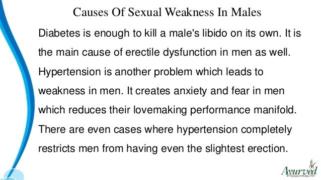 What Causes Sexual Weakness In Men