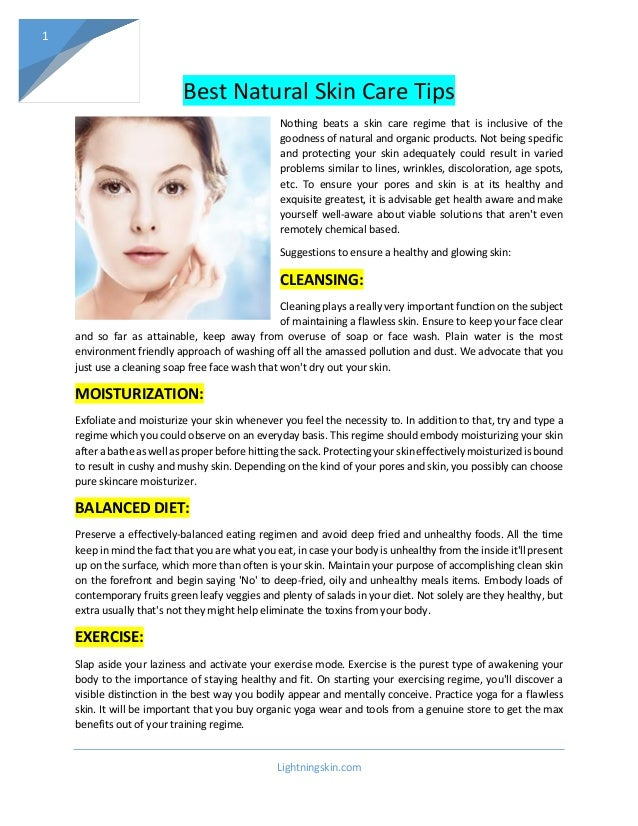Best Natural Skin Care Tips