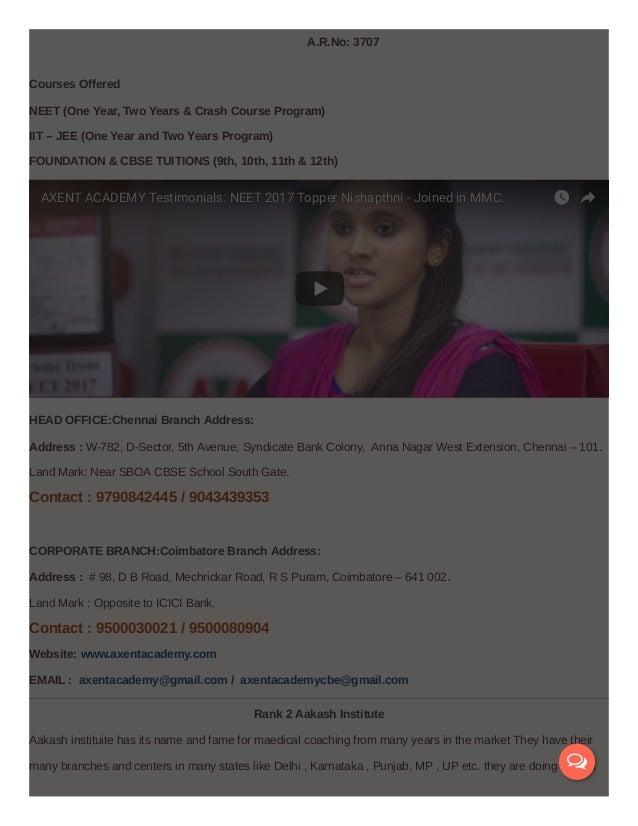 Best Neet Exam Coaching In Coimbatore