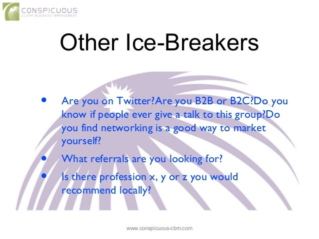 Speed Dating Ice Breakers
